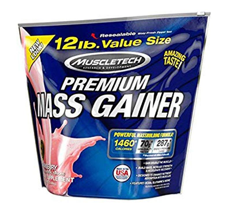 MuscleTech 100% Premium Mass Gainer - 5.44kg - Fresa