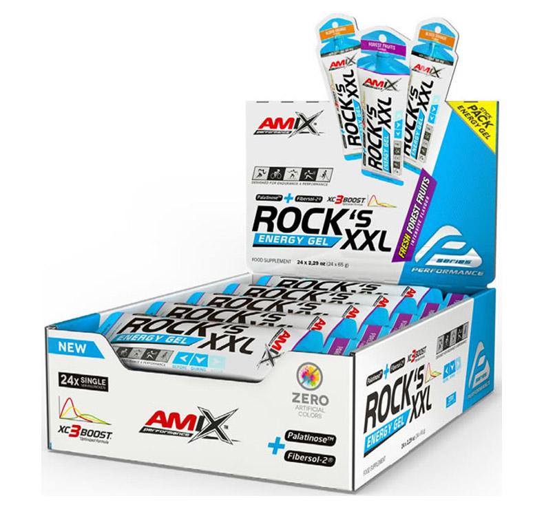 Amix Performance Rock's gel XXL- 24 x 65 gr - Frutas del bosque