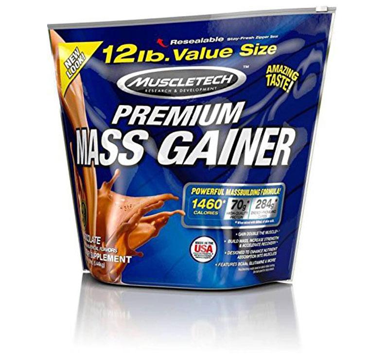 MuscleTech 100% Premium Mass Gainer - 5.44kg - Chocolate