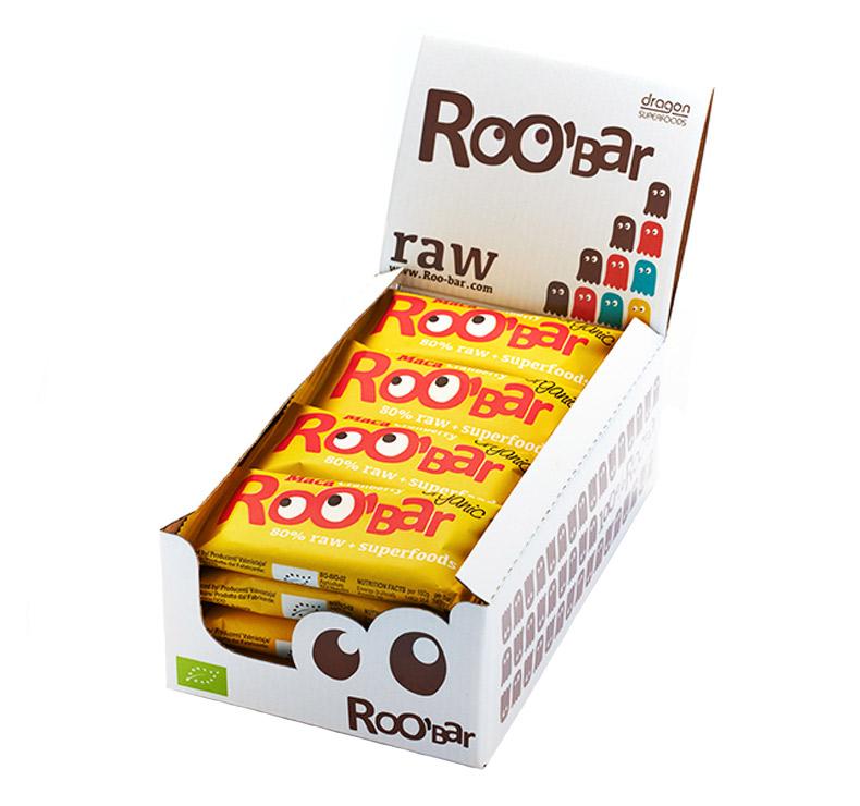 Roo' Bar - 16 x 50gr - Maca-Arándanos