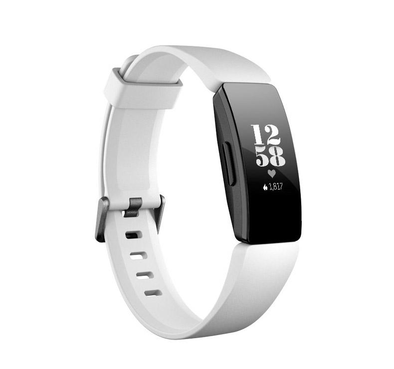 Pulsera de salud y actividad física Fitbit Inspire HR - Blanco/Negro