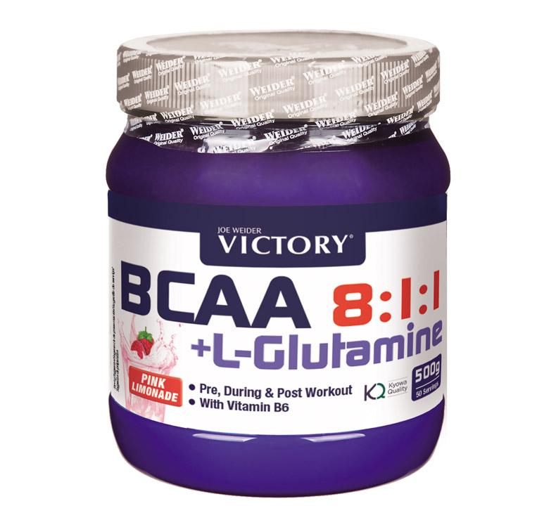 Victory BCAA 8:1:1 + Glutamina - 500 gr - Pink lemonade