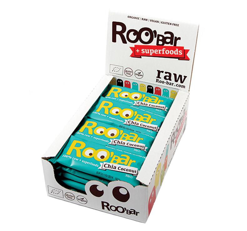 Roo' Bar - 20 x 30gr - Chía-Coco