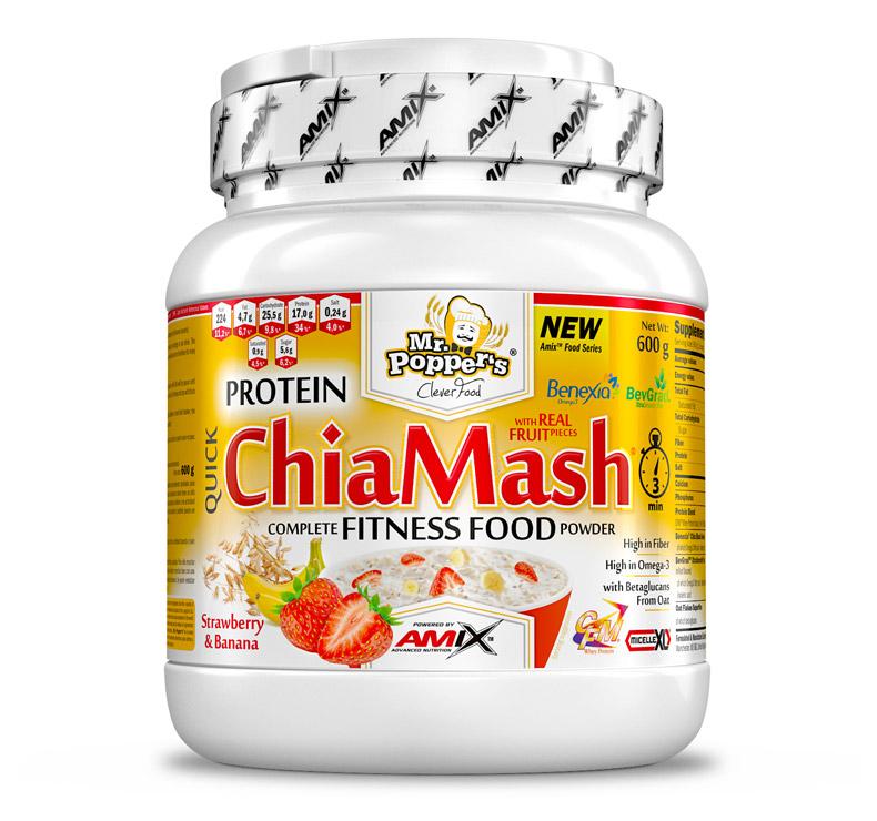 Amix Mr.Poppers Protein ChiaMash - 600g - Fresa-Plátano