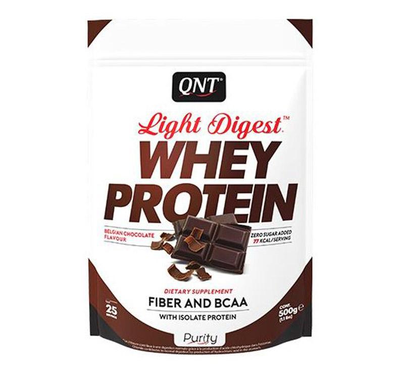 QNT Light digest Whey Protein - 500 gr - Chocolate blanco